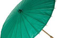 Umbrellas, fans, and parasols