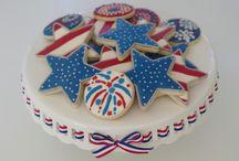 galletas 4 de julio / galletas patrioticas