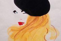 Painted dreams / Dreamy paintings of ladies, streets, people and things