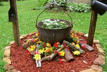Rustic Flower Beds