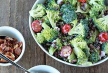 salad, brocoli