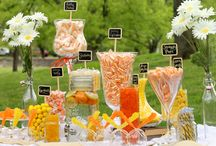 Orange and Yellow Candy Buffet