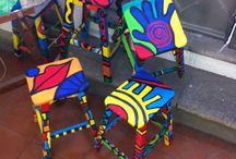muebles pintados a mano