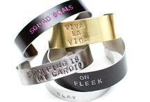 Personalized Jewelry / Personalize your own pieces at www.honeyrosenk.com