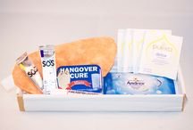 THE HANGOVER BOX / Had a heavy night or know someone that has one coming up? Maybe you've arranged a hen do or you're sending your first born off to University… Whatever the occasion, The Hangover Box will go down a treat.  Designed to help you or your loved one handle hard-core hangovers and rejuvenate after a restless night, this box contains everything you need to pull yourself together and face the world again!