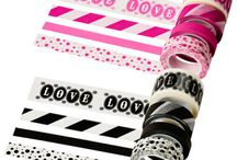 Craft and Office Supplies / Washi tape, rubber stamps, Stickers, paper Clips, Sticky Notes;