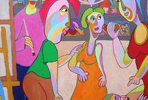 Kunst / art / Mijn leven als kunstenaar. My life as a fine artist.