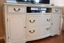 TV stand once dresser! / by Carolyn Beam