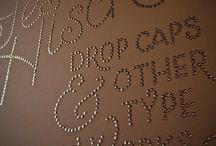 Thumbtack word art / Wall art