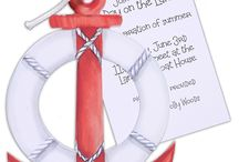 Nautical Invitations & Stationery / Nautical Wedding Invitations, Nautical Party Invitations, Nautical Paper, All Things Nautical, Anchors