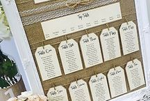 Table decoration and seating chart
