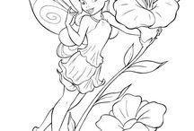 Színező Csingiling, Tinkerbell coloring, TinkerBell färbenden