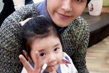 kpop idols with children