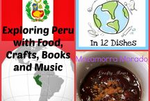 Peru - Recipes / Recipe Ideas from Peru for cooking with Kids. Around the World in 12 Dishes {January's featured Country}