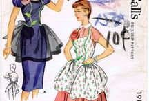 """Aprons - Vintage Patterns from Long Ago / """"Tie me to your apron strings again. . ."""""""