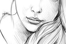рисунки лицо девушки