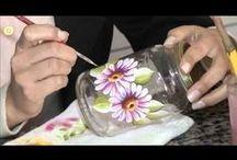 vídeo pintura en cristal