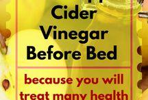 Apple cider for bloating.