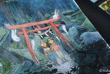 Onibi - graphic novel / Onibi is a graphic novel inspired by our travels in Japan. It is published by Issekinicho. ***  Onibi est une bande dessinée qui s'inspire de nos voyages au Japon. C'est un livre publié par les éditions Issekinicho.