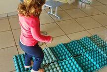 Motricité sur des plateaux d'œufs