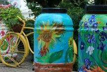 Rain Barrels / A rain barrel's main purpose is to capture rainwater before it leaves your property. Rain barrels are a great way to remove stormwater runoff flowing from driveways and streets. Most rain barrels can capture 50-75 gallons of rainwater during a storm.