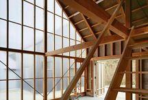 Polycarbon wood wall