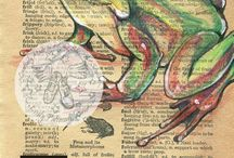 Animal research sketchbook pages / Year 10 BTEC research and presentation