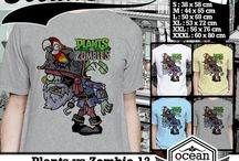 Game Plants VS Zombie T shirt / Now  a few items are on ebay, so if you want to buy it please visit this link  http://www.ebay.com/itm/181264598625?ssPageName=STRK:MESELX:IT&_trksid=p3984.m1555.l2649
