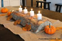 Thanksgiving Table Decoration & Centerpiece Ideas / A collection of beautiful ways to decorate your table for Thanksgiving brunch or dinner.