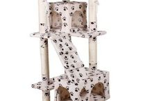 Home Cat Toys Beige Paws Ceiling High Tree Bed Large Includes Play Rope Indoor