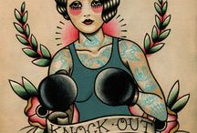 boxing girl tat