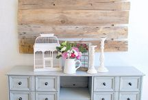 Kids , crafts and cozy space! / Colored furniture  / by Sally Cook