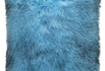 Poduszka dekoracyjna KORALGOL niebieski/ Faux fur pillow KORALGOL blue / Poduszka dekoracyjna KORALGOL niebieski/ Faux fur pillow KORALGOL blue