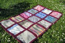 Blanket - RASPBERRY II / SIZE: 130X213cm MATERIAL- wool, cotton MADE - handmade