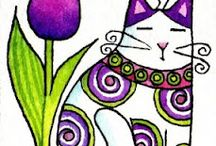 ART - whimsical cats