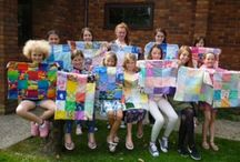Quilts for Charity / Young Quilters also make quilts for charity such as Project Linus