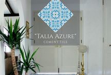 Villa Lagoon Tile- Handcrafted Cement Tile / Villa Lagoon Tile  encaustic cement tile.