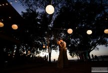 // Outdoor Reception Lighting // / Beautiful lighting we've seen at outdoor receptions - from lanterns to candles to twinkle lights.