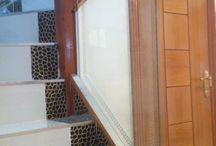 Glass Balustrade / Balustrade Sand Blasted Design