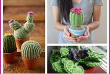 Cute crocheted plants