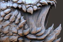 Zbrush\ digital sculpting