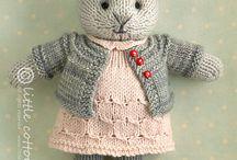 Strikka bamser,kaniner og dukker