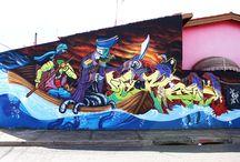 Graffiti • Street Art • Outdoor Painting / Trabalhos realizados na rua ou ambiente externos pelo duo FITE. • #graffiti #artwork #art #streetart #outdoorpainting