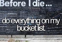 Lelz' Bucket List (knock on wood)
