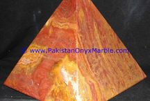ONYX PYRAMIDS MULTI BROWN ONYX HEALING HAND CARVED POLISHED NATURAL