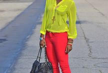 Pop of Color / Fashion infused with color and bold pairings