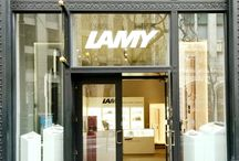 FORGE: LAMY / Retail space on San Francisco's Market Street for quality pen design company Lamy. The design focuses on modern clean simplicity and the use of light to showcase each line of pens.  #architecture #interior #retail #lamy #brand #display #shelving #showcase #lighting #details #design #wall