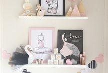 Whimsical girl's room for little ballerinas / Ballet, Pastel, Pink, Illustrations, Australian Art, Ballerina