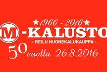 M-Kalusto logo / Logoja M-Kalustolle