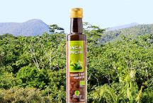 Inca inchi / Extra virgin, cold pressed oil from Sacha Inchi seeds from organic agriculture in the Peruvian Amazon rainforest.